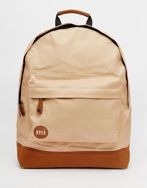 Mi-pac Classic backpack in light brown - Cart by Mi-Pac Canvas textile outer Grab handle Zip...