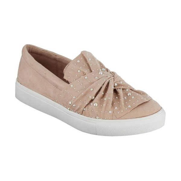 MIA aretha embellished slip-on sneaker in blush - A knotted detail at the vamp separates this chic slip-on...