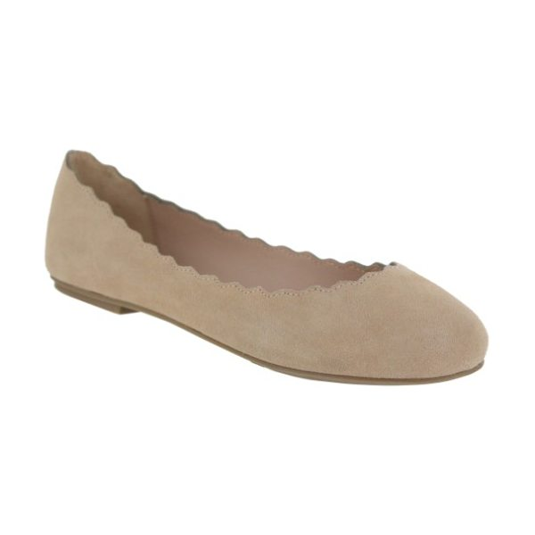 MIA gianna scalloped flat - A gently scalloped topline further softens a velvety...