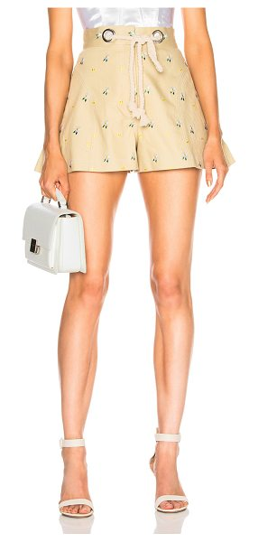 Miaou Greta Short with Rope Belt in nude - 98% cotton 2% lycra.  Made in USA.  Dry clean only. ...