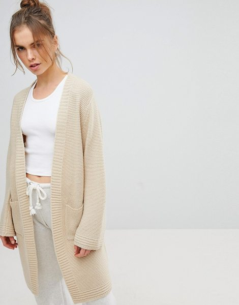 Micha Lounge edge to edge cardigan in cream