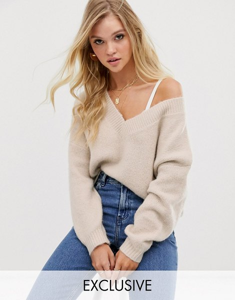 Micha Lounge luxe relaxed sweater in wool blend in oatmeal