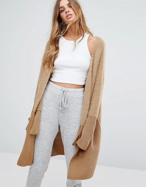 """Micha Lounge Mix Knit Cardigan in stone - """"""""Cardigan by Micha Lounge, Soft-touch chunky knit,..."""