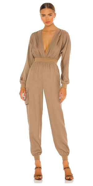 Michael Costello x revolve dolman sleeve jumpsuit in camel