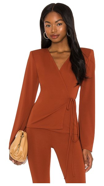 Michael Costello x revolve eloise wrap top in burnt sienna