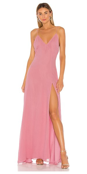Michael Costello x revolve janina gown in light pink
