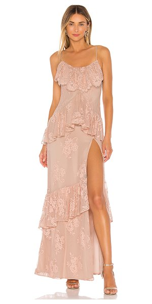 Michael Costello x revolve justine gown in nude rose