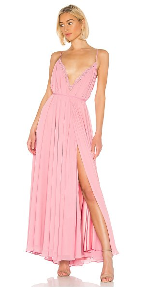 Michael Costello x revolve paris gown in blush