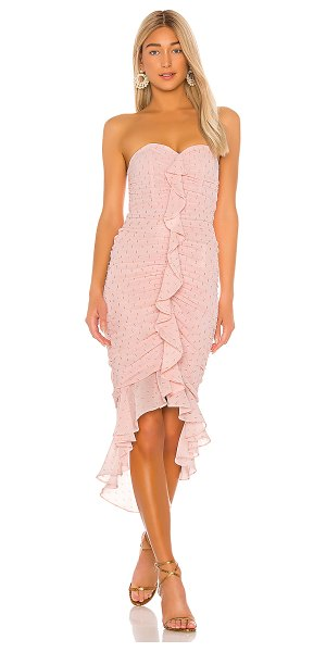 Michael Costello x revolve vega midi dress in pink
