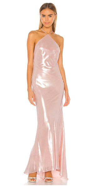 Michael Costello x revolve xaiyla gown in light pink