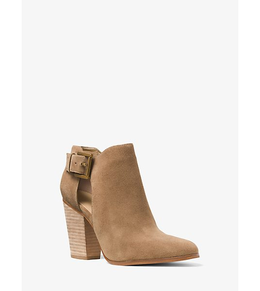 Michael Kors Adams Suede Ankle Boot in natural