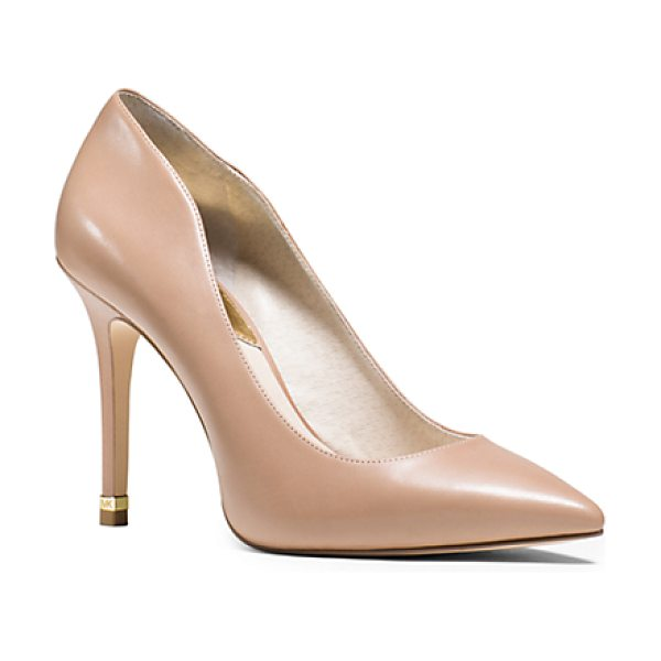 MICHAEL KORS Arianna Leather Pump in natural - Falls Tweeds And Textures Need A Sleek Shoe To Ground...