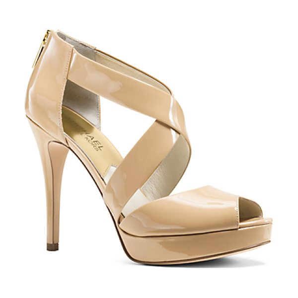 MICHAEL KORS Ariel Patent-Leather Platform Sandal - High-Shine Patent Leather And A Sky-High Stiletto Heel...