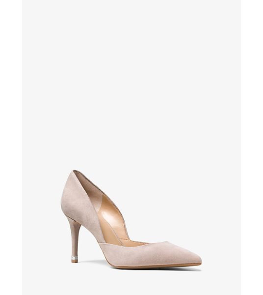 Michael Kors Ashby suede pump - Sumptuous suede construction and an elegant silhouette...