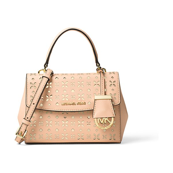 Michael Kors Ava Extra-Small Perforated-Leather Crossbody in pink - Our Ava Crossbody Is Reimagined This Season In Prettily...