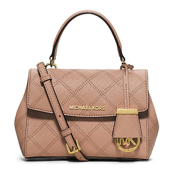 Michael Kors Ava extra-small quilted-leather crossbody in pink - A touch of fresh refined style for your work-to-weekend...
