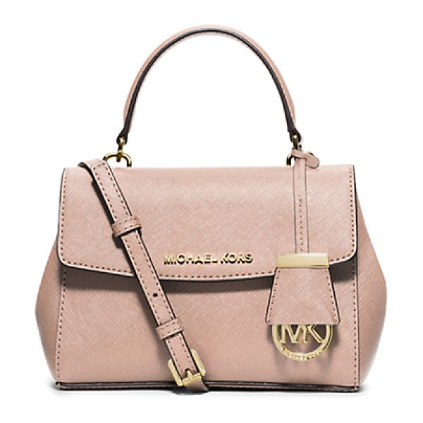 Michael Kors Ava extra-small saffiano leather crossbody in ballet - Downsize your carryall for days on the go. This compact...
