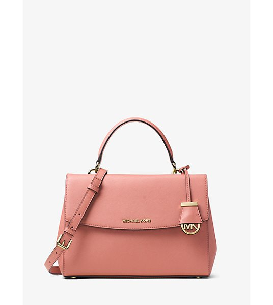 Michael Kors Ava Medium Saffiano Leather Satchel in pink - This Decidedly Ladylike Take On The Top-Handle Bag...