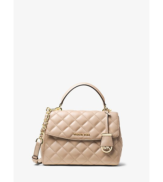 MICHAEL KORS Ava small quilted-leather satchel - Quilted stitching punctuates the soft yet structured...