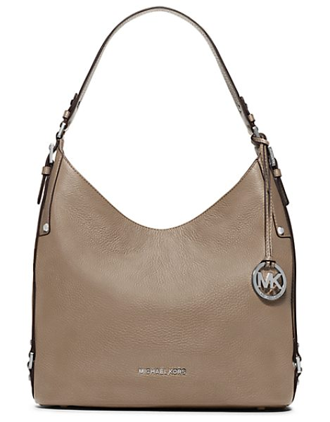 Michael Kors Bedford Large Leather Shoulder Bag in brown