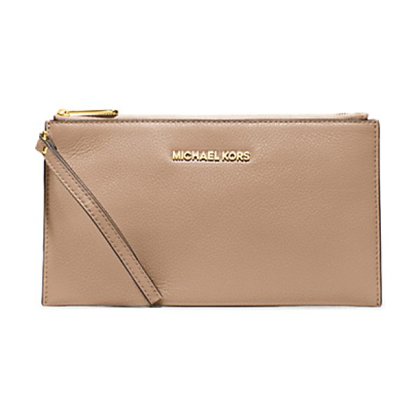 MICHAEL KORS Bedford large leather zip clutch handbag - Our not-so-basic Bedford clutch in soft Venus leather is...