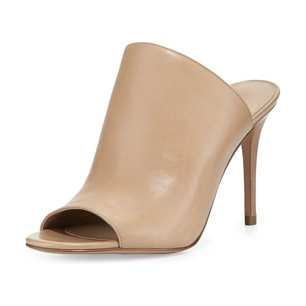 "Michael Kors Burnett leather mule pump in toffee - Michael Kors leather mule pump. 3. 5"" heel. Open toe...."