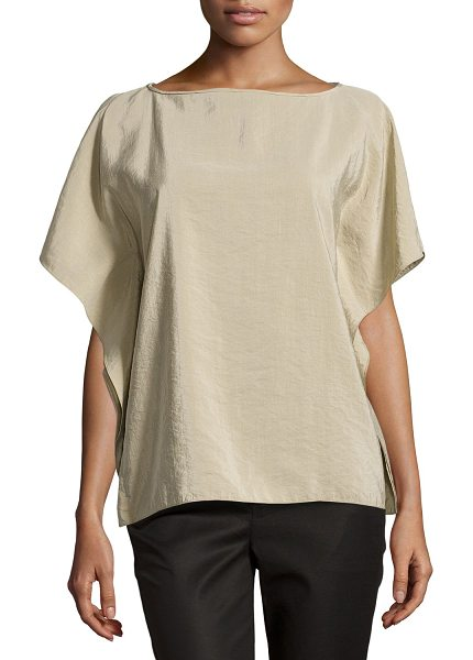 Michael Kors Butterfly-sleeve tunic in sand - Michael Kors pebbled-silk tunic. Approx. measurements:...