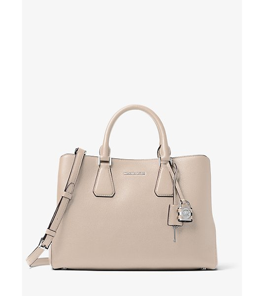 MICHAEL Michael Kors Camille large leather satchel - The key to refinement. Crafted from soft pebbled leather...