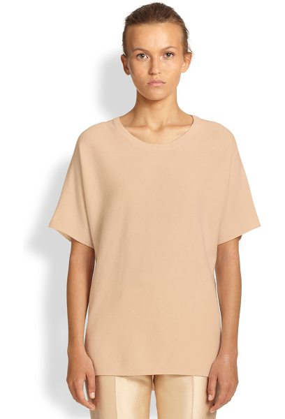 Michael Kors Cashmere dolman-sleeve tee in nude - A luxe take on a wardrobe classic, crafted from...