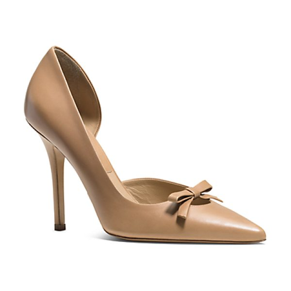Michael Kors Collection Alessandra Leather Bow Pump in brown - Bows Are Very Important To My Transeason Collection Says...