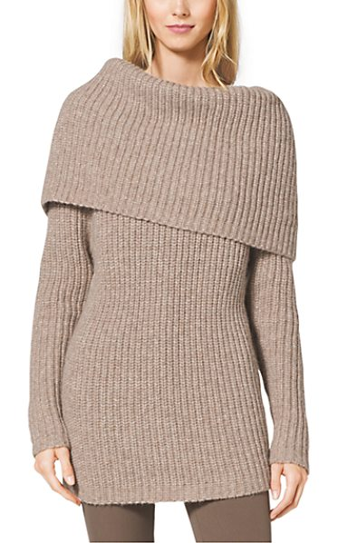 Michael Kors Collection Alpaca Merino in brown - Fall's Knitwear Mixes A Casual Attitude With A...