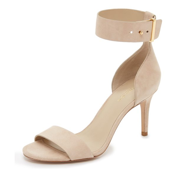 Michael Kors Collection Ames sandals in nude - Luxe suede composes these refined Michael Kors...