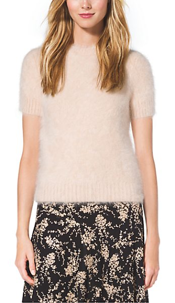 Michael Kors Collection Angora T-Shirt in natural - As Sumptuous As It Is Simple Our Angora Top Is Cast In A...