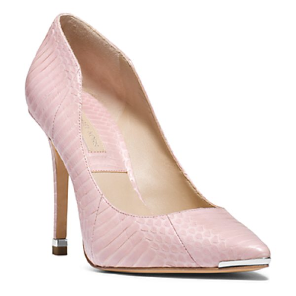 Michael Kors Collection Avra Snakeskin Pump in pink - With All Of These Softer Romantic Pieces You Need To...