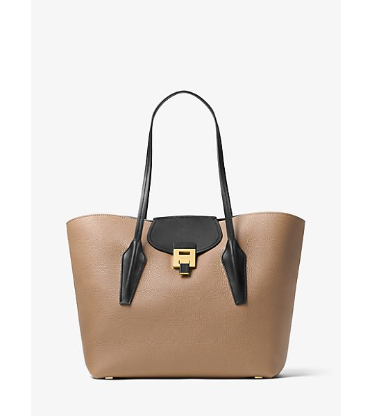 Michael Kors Collection Bancroft Calf Leather Tote in natural - Simple In Spirit Yet Rich In Design The Bancroft Tote...