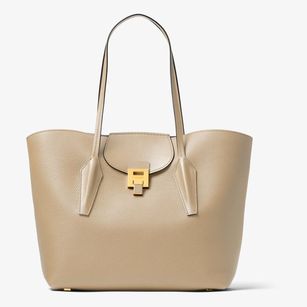 MICHAEL KORS COLLECTION Bancroft Calf Leather Tote - Simple In Spirit Yet Rich In Design The Bancroft Tote...