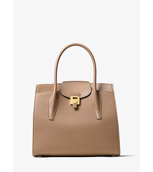 MICHAEL KORS COLLECTION Bancroft Pebbled Calf Leather Weekender - A Study In Understated Elegance The Bancroft Weekender...
