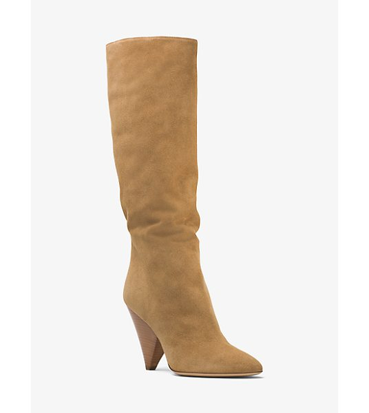 Michael Kors Collection Belinda Suede Boot in natural - Expertly Crafted In Italy From Sumptuous Suede Our...