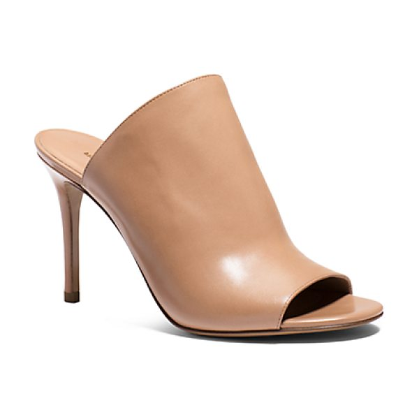 Michael Kors Collection Burnett Leather Mule in brown - Sumptuous Calf Leather And A Stiletto Heel Put A Refined...