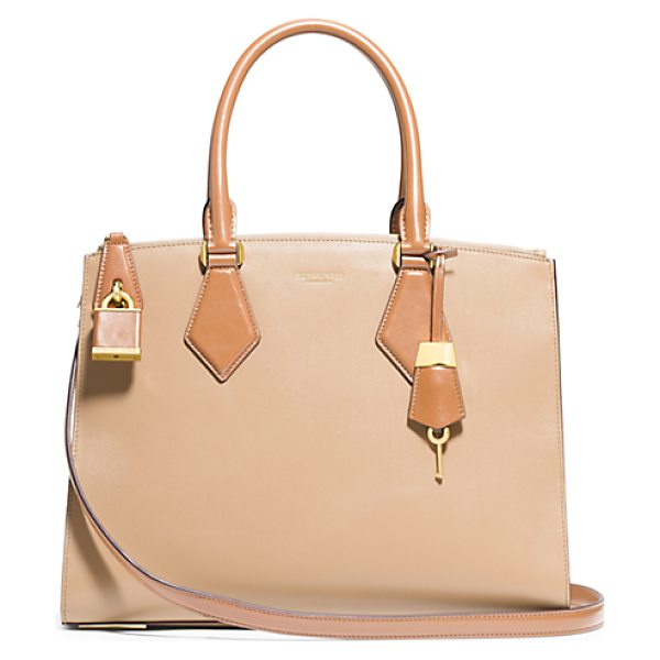 Michael Kors Collection Casey Large Leather Satchel in natural - In My Designs I'm Constantly Striving To Create...