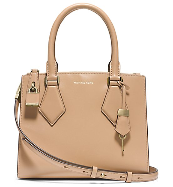 MICHAEL KORS COLLECTION Casey Small Leather Satchel in natural - In My Designs I'm Constantly Striving To Create...
