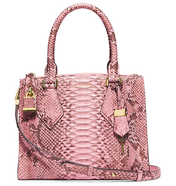 Michael Kors Collection Casey Small Python Satchel in pink - In My Designs I'm Constantly Striving To Create...
