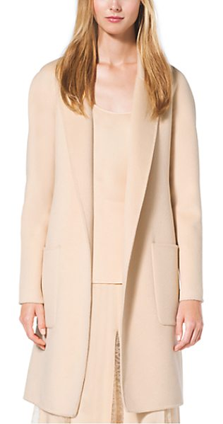 Michael Kors Collection Cashgora Bathrobe Jacket in natural - We Took The Bathrobe And Elevated It To Elegant Effect....