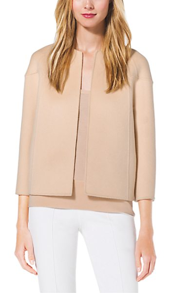 MICHAEL KORS COLLECTION Cashgora Raglan Jacket - Cast In A Soft Dreamy Cashgora This Raglan Jacket Is A...