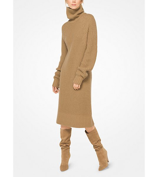 Michael Kors Collection Cashmere And Mohair Sweater Dress in natural - Knit From Sumptuous Cashmere And Mohair This Turtleneck...