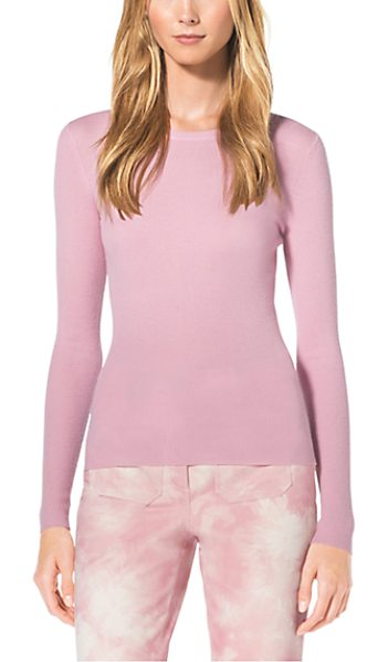 Michael Kors Collection Cashmere Crewneck Sweater in pink - As Easy As It Is Elegant This Crewneck Sweater Is...