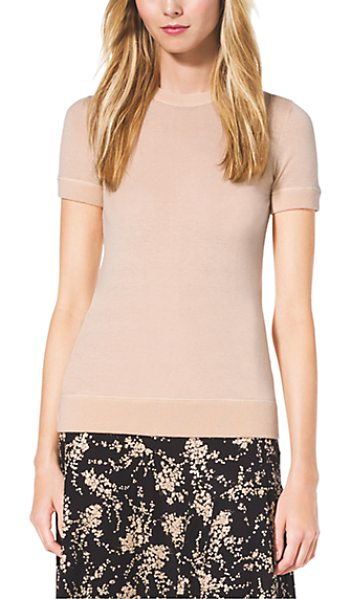 Michael Kors Collection Cashmere T-Shirt in natural - Easy Does It. This Cashmere Pullover Is A Sumptuous Yet...