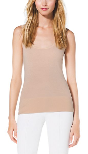 Michael Kors Collection Cashmere Tank Top in natural - Every Well-Edited Wardrobe Requires Luxe Layering Pieces...
