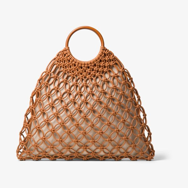 Michael Kors Collection Cooper Woven Leather Tote in natural - Riffing On A Vintage Design The Spacious Cooper Tote...