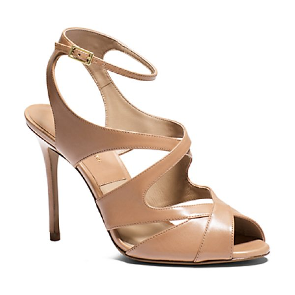 Michael Kors Collection Cordelia Leather Sandal in brown
